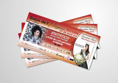 Impression de carte d'invitation publicitaire à Royan